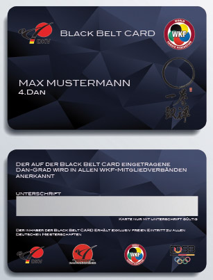 Black Belt Card A